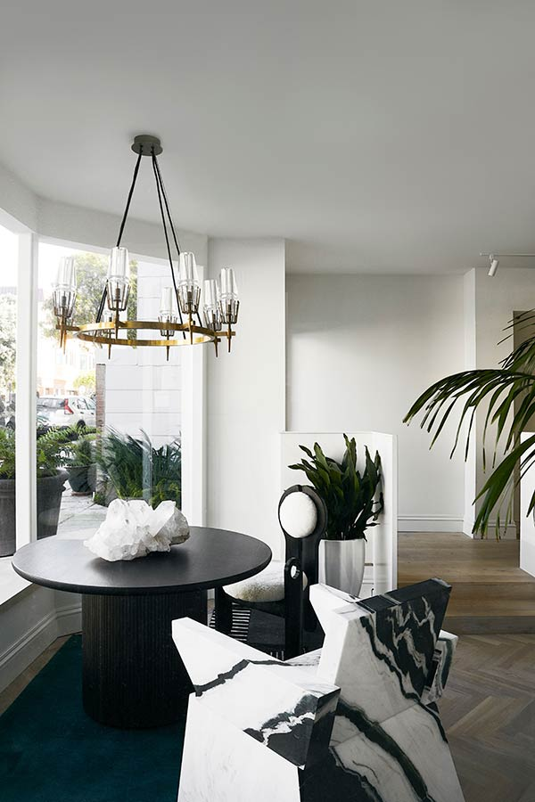 Jeff Schlarb Design Studio Table With Marble Chair